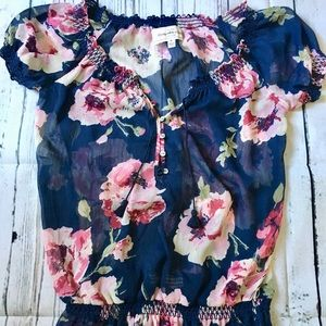 NWOT Abercrombie and Fitch Floral Blouse